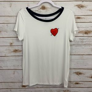 American Eagle Soft & Sexy Don't Play Heart Top M